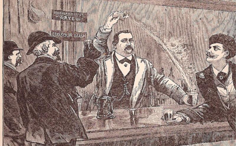 history of flair bartending